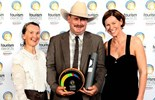 Left to right: Marisse and Richard Kinnon with Marketing Manager Glenda Daly at this year's Queensland Tourism Awards where Kinnon & Co won two Gold