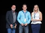2014 NatRoad Award winners (from left): Aaron Busk, Benjamin Sparrow and Laura Kennedy.