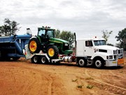 International S Line 3700 with John Deere Tractor
