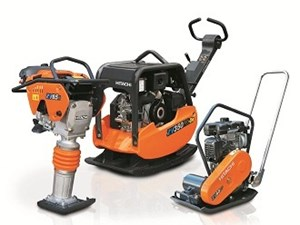 Hitachi has expanded its compaction lne-up to include three new reversible vibratory plate compactors.