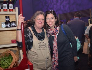 Gourmet guru, food consultant and Queensland Food Fellow, Alison Alexander (left), met up with Brisbane's own domestic goddess, Danielle 'Digella' Cristmani, of Baked Relief fame, during the Ekka 2014 launch on Thursday, July 17
