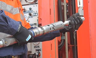 The Sandvik NSU multifunctional core barrel drilling system.