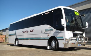 'Biloela Bob' ready for the job at Callide Coaches in central Queensland