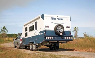 The Sunland Blue Heeler is a very capable offroad caravan.