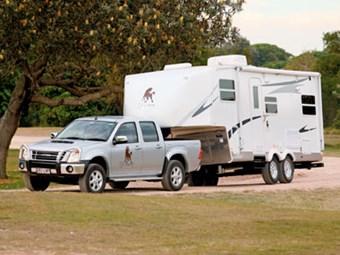 Cut Loose Roebuck fifth wheeler caravan