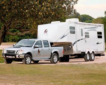 Cut Loose Roebuck fifth wheeler caravan