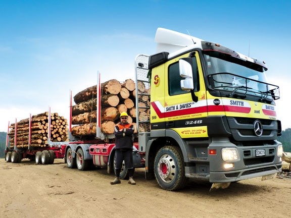 Hino Hybrid Truck Reviews >> Smith & Davies Logging trucks