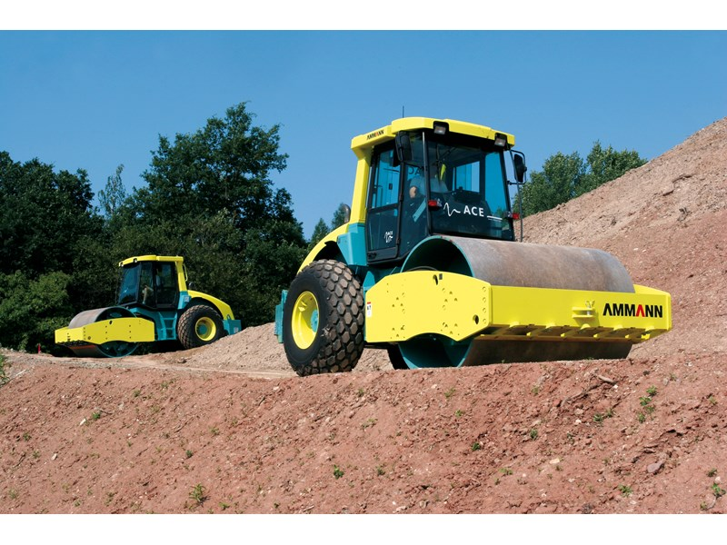 Ammann Asc 110 D Rollers Self Prop Smooth Drum Specification