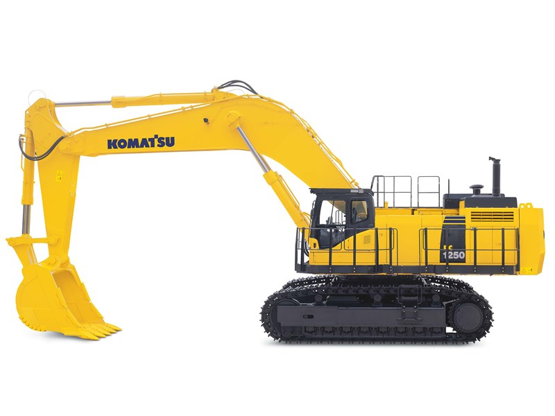 komatsu pc12508 excavators loading shovel transport