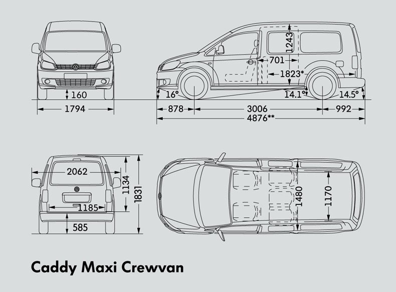 Volkswagen Caddy Maxi Crewvan Trucks On Road Trucks 75kw