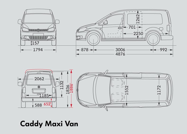 Volkswagen Caddy Maxi Van Trucks On Road Trucks 103kw 6