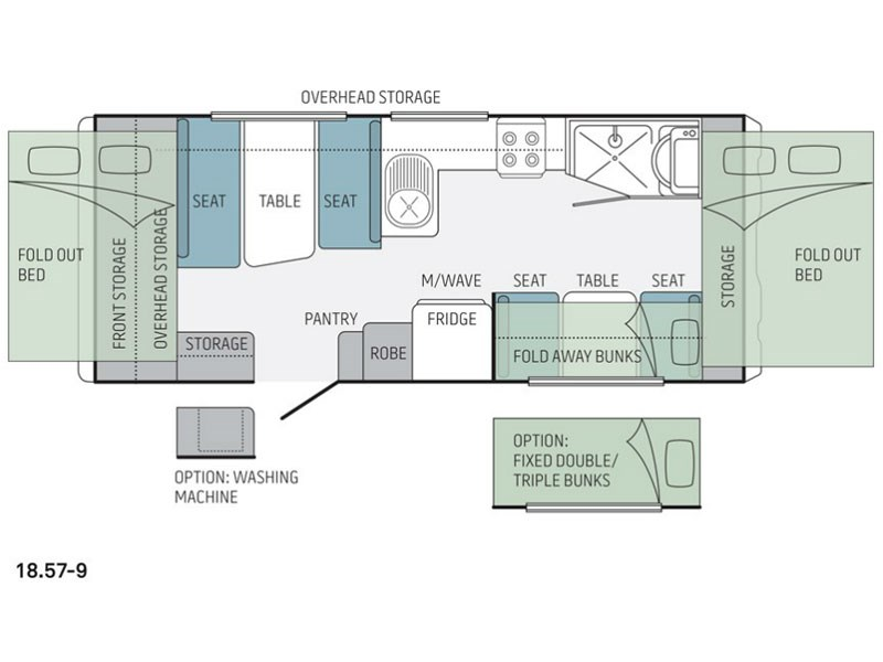 Jayco expanda rv towing caravans specification for 18 foot travel trailer floor plans