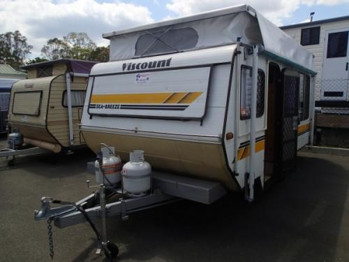 Unique 1976 Viscount Explorer Camper Trailer C63976  Classic Caravans