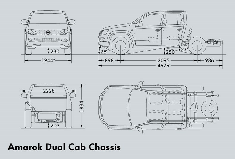 Volkswagen Amarok Dual Cab Cab Chassis Trucks On Road